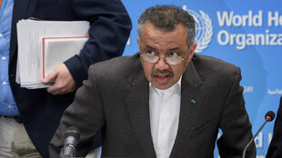 World Health Organization (WHO) Director-General Tedros Adhanom Ghebreyesus arrives for a press conference following a WHO meeting to discuss whether the new coronavirus outbreak constitutes an international health emergency in Geneva, Switzerland on January 30, 2020.