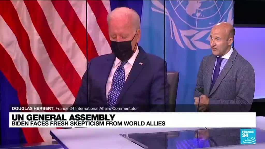 2021-09-21 11:05 UN General Assembly: Biden faces fresh skepticism from world allies