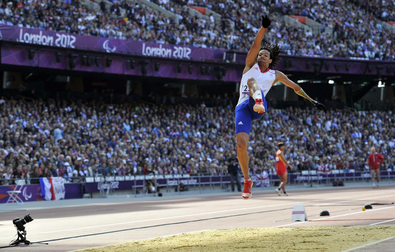 Arnaud Assoumani lors des Jeux paralympiques de Londres, le 3 septembre 2012.