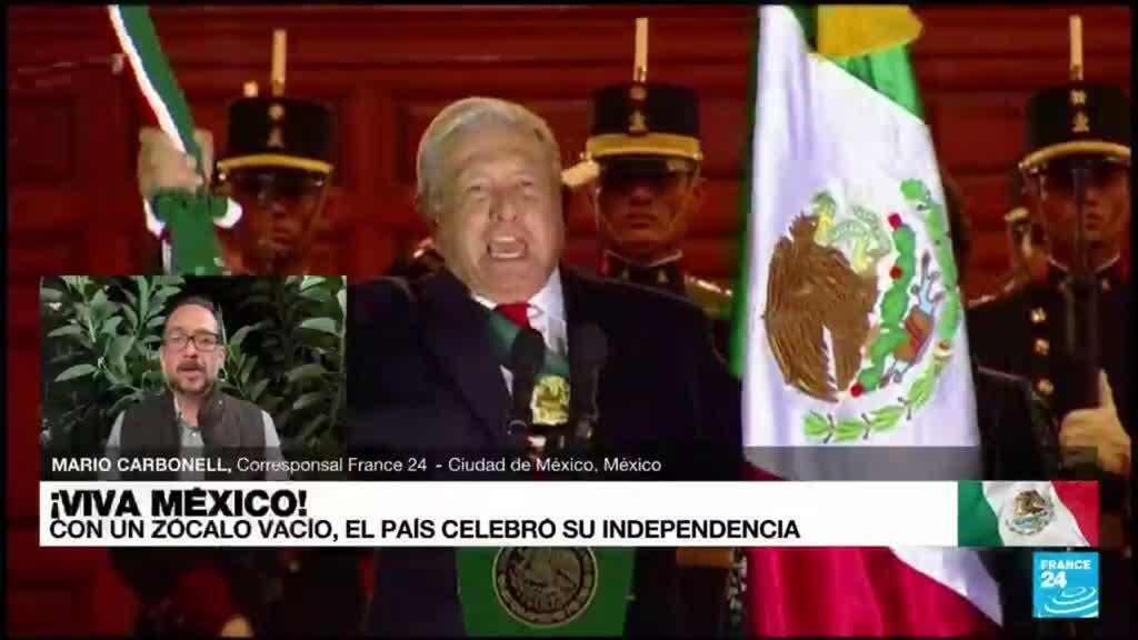 2021-09-16 17:11 Informe desde México: sin público, López Obrador lideró la conmemoración de la Independencia