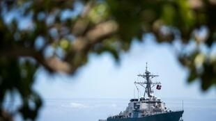 A file photo of an American destroyer boat in the waters of the Pearl Harbor base, June 29, 2012, Hawaii.
