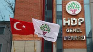 Siège du HDP, parti pro-kurde, à Ankara.