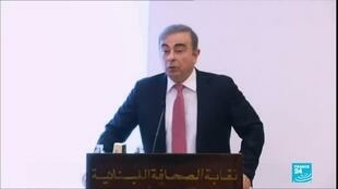 2020-01-08 22:13 Former Nissan chief Carlos Ghosn defended claimed innoncence during first public address in Lebanon