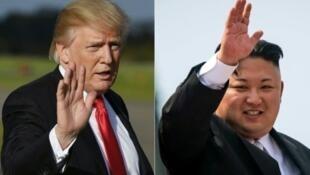 الزعيم الكوري الشمالي كيم جونغ أون والرئيس الأمريكي دونالد ترامب