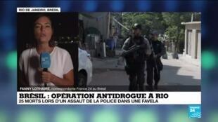2021-05-07 10:08 Brésil : une opération antidrogue fait au moins 25 morts dans une favela de Rio