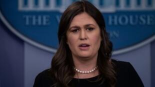 المتحدثة باسم البيت الأبيض سارة ساندرز.