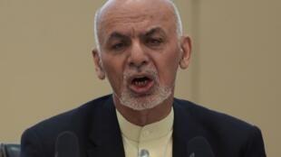 الرئيس الأفغاني أشرف غني في 28 شباط/فبراير في كابول.