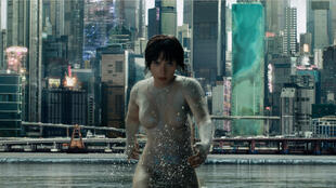 "Scarlett Johansson, héroïne du film ""Ghost in the shell"" de Rupert Sanders."