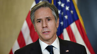 US Secretary of State Antony Blinken, seen in March 2021 during a visit to Alaska for talks with Chinese officials, has vowed that the United States will take a leadership role in vaccinating the world against Covid-19