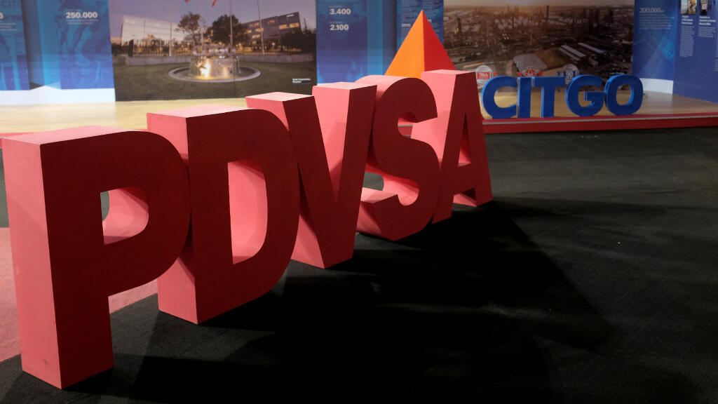 Foto de archivo de los logotipos corporativos de la compañía petrolera estatal PDVSA y Citgo Petroleum Corp en Caracas, Venezuela, el 30 de abril de 2018.