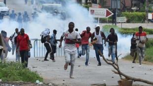 Manifestation étudiante à Abidjan, le 13 septembre 2017.