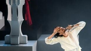 """Le danseur Sergueï Polounine danse """"Raspoutine"""" près de Moscou le 23 mai 2019"""