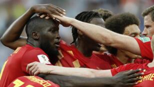 روميلو لوكاكو  الذي أحرز هدفين لصالح بلجيكا