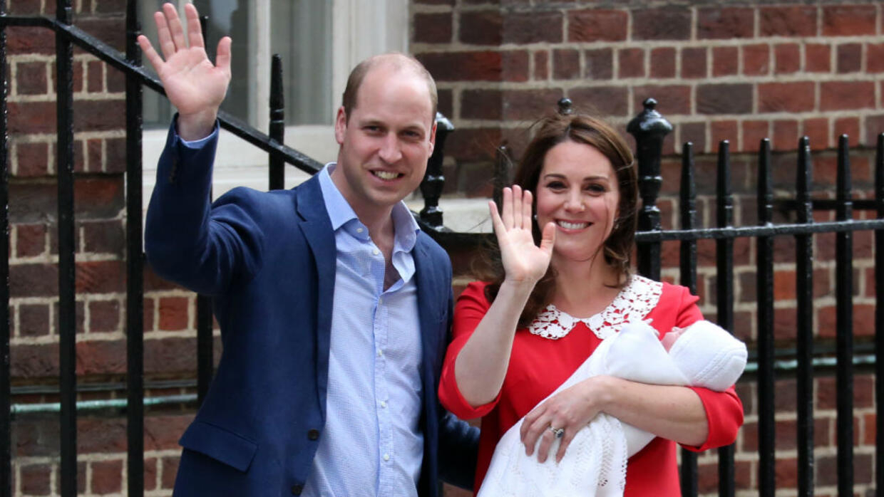 Prince William's wife Kate gives birth to baby boy