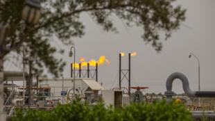 Una planta de gas natural en la ciudad iraquí de Basora, en una imagen del 21 de abril de 2020
