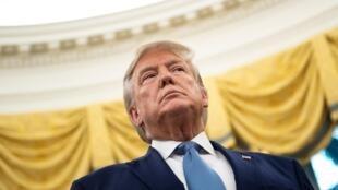 Donald Trump à la Maison Blanche, le 8octobre2019.