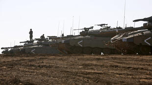 Israeli forces, seen here in the annexed Golan Heights, have launched hundreds of attacks in Syria, often targeting Iran-backed forces