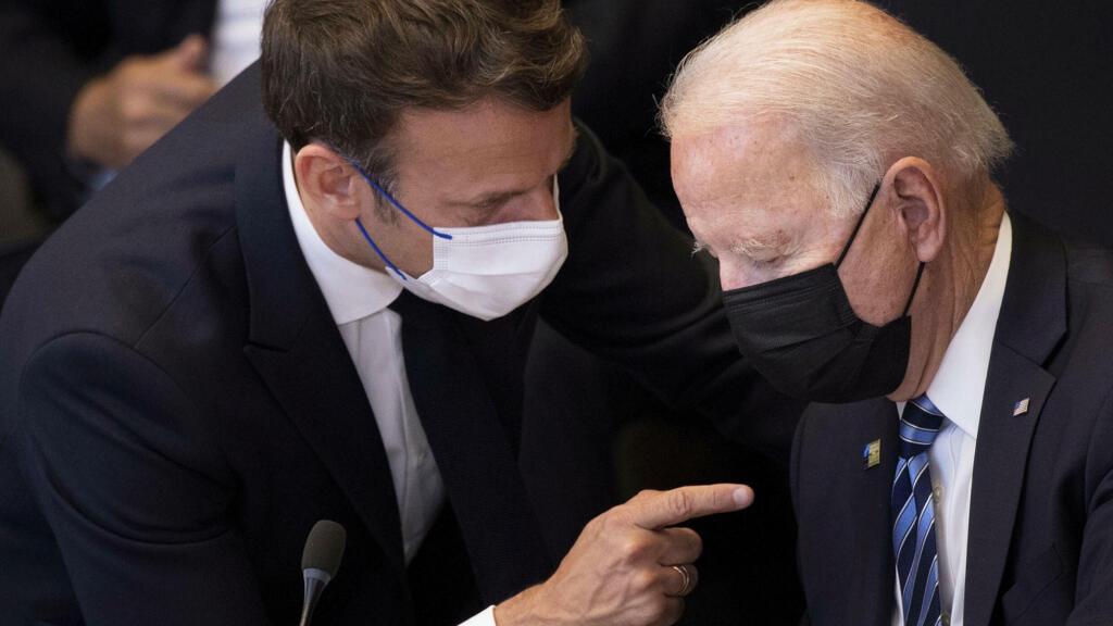 Macron, Biden discuss 'stronger' European defence after submarine row