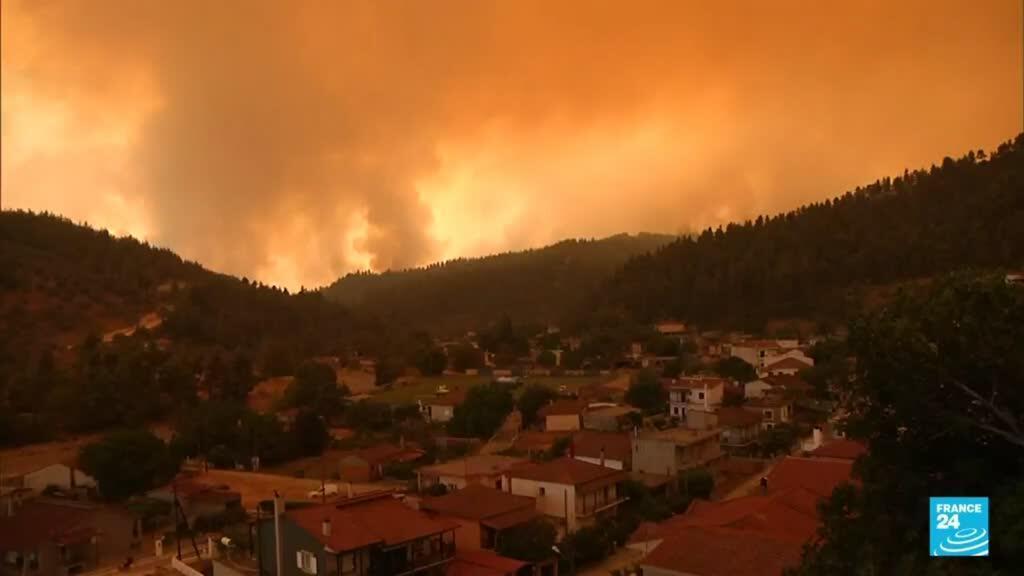 2021-08-08 14:43 Grecia: la peor ola de calor en 30 años ha generado incendios en gran parte del país