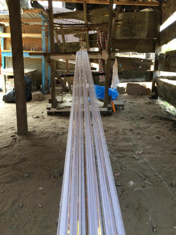 Weaving loom in Grand Bassam, Ivory Coast