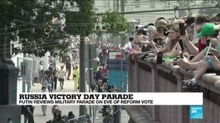 2020-06-24 16:13 Victory Day parade in Moscow ahead of vote on controversial constitutional reforms