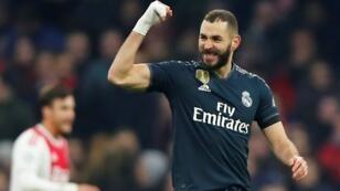 كريم بنزيمة سجل أمام أجاكس هدفه الـ60 في دوري أبطال أوروبا 13 فبراير/شباط 2019