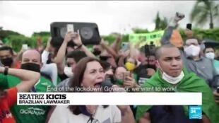 2021-03-01 08:14 Brazil's capital returns to Covid-19 lockdown