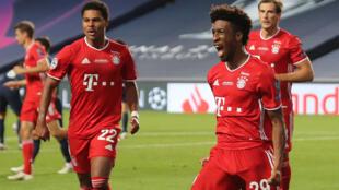 Kingsley Coman (R) scored the winner when Bayern Munich beat PSG in last season's Champions League final less than six weeks ago
