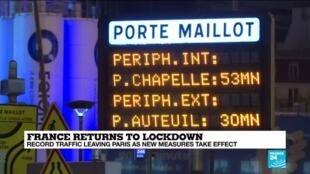 2020-10-30 14:10 Parisians flee city as lockdown kicks in