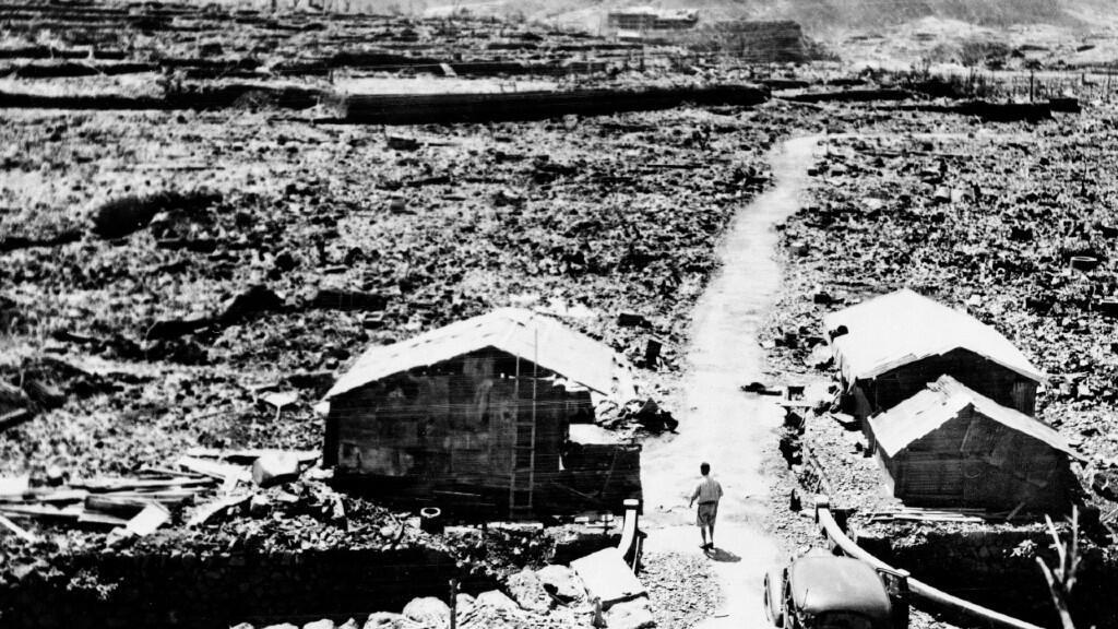 Imagen del 14 de septiembre de 1945, cuando más de un mes después de la explosión se podía observar todavía la destrucción total de la ciudad.