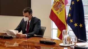 صورة مؤرخة في 17 كانون الاول/ديسمبر 2020 لرئيس الوزراء الاسباني بيدرو سانشيز في في مدريد