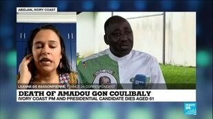 2020-07-09 14:14 Ivorians gather to mourn death of PM Amadou Gon Coulibaly, FRANCE 24's correspondent says