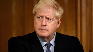 British Prime Minister Boris Johnson during a press conference at Downing Street in London, Britain, on October 20, 2020.