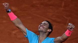 Champion again: Rafael Nadal celebrates