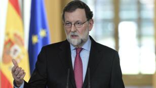 Mariano Rajoy a tenu une conférence de presse à Madrid le 29 décembre 2017.