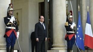 الرئيس الفرنسي فرانسوا هولاند في 14 أيلول/سبتمبر