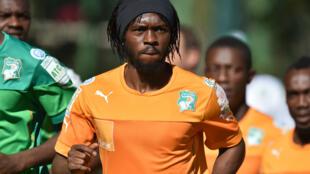 Gervinho, attaquant de la Côte d'Ivoire (archives)