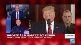 2020-01-08 17:42 Prise de parole de Donald Trump :  la désescalade mais jusqu'à quand?