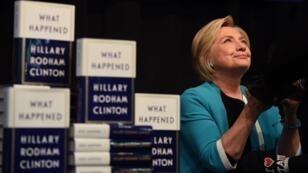 Hillary Clinton lors de la présentation de son livre à New York, le 12 septembre 2017.