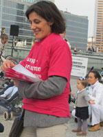 Isabelle, mère de famille, membre de l'équipe organisatrice.(Photo : A. Makhoul-Yatim)