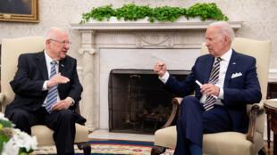 US President Joe Biden and Israeli President Reuven Rivlin meet at the White House