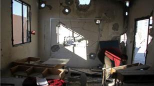 L'école de Haas, près d'Idleb, après avoir été bombardé, le 26 octobre.