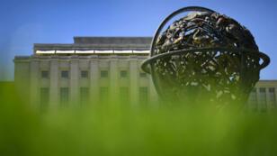 Dans ce bâtiment de l'ONU à Genève se déroulent les pourparlers de paix sur la Syrie.