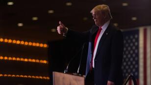 Donald Trump lors d'un meeting avant les consultations républicaines du Nevada, mardi 23 février 2016.