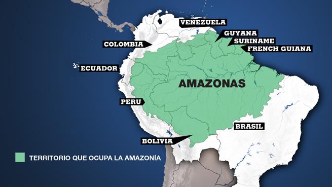 Extensión completa de la Amazonia en América