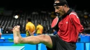 المصري إبراهيم حمدتو يشارك في الألعاب البارالمبية في ريو دي جانيرو الجمعة 9 أيلول/سبتمبر