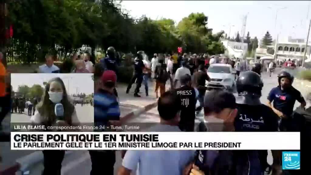 2021-07-26 11:02 Crise politique en Tunisie : L'armée déployée au siège du gouvernement