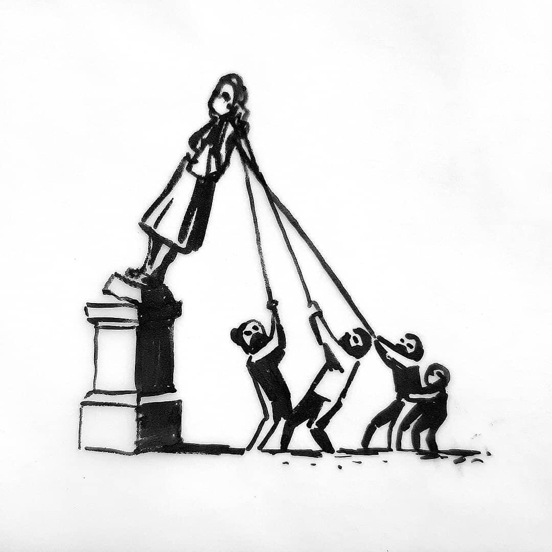 Ilustración del artista británico Bansky