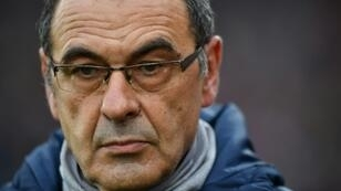 Running out of time: Maurizio Sarri's future as Chelsea manager is in doubt after Sunday's 6-0 thrashing by Manchester City