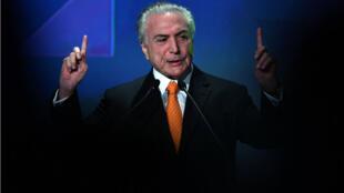 Michel Temer à Sao Paulo, le 30 mai dernier.